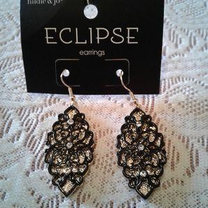 🌺 NWT Hildie & Jo Eclipse Fishhook Earrings